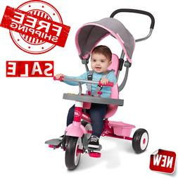 4-in-1 Grow With Me Radio Flyer Baby Stroller Kids Girls Tri
