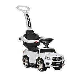Best Ride On Cars 4 in 1 Mercedes Push Car, White