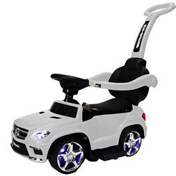 ZForce 4-in-1 Mercedes Stroller Ride-On Toy Push Car - White