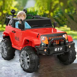 12V 2 Kids Electric Ride On Toy Truck Car W/Remote Control 2