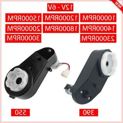 12V 6V Power Wheels Gearbox DC Motor for Jeep Car Ride On To