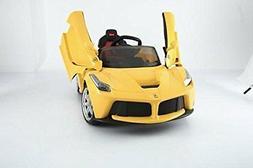 12V Battery Ferrari Electric Ride On Car Remote Control Musi