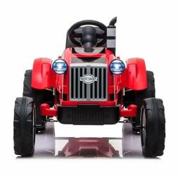 12V Battery Powered Toy Tractor w/Trailer 3-Gear-Shift Groun