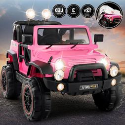 12V Electric Kids Ride On Truck Car Toy Battery 3 Speed Remo