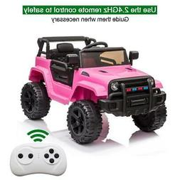 12V Electric Battery Kids Ride on Truck Car Toys Gift w/ LED