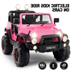 12V Electric Battery Kids Ride on Truck Car Toy LED MP3 Remo