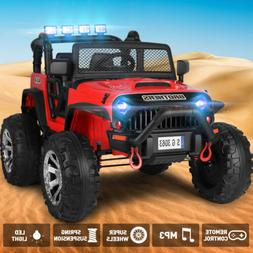 12V Electric Jeep Kids Ride on Truck Car Toy Auto Return Spr