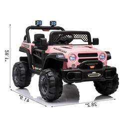 12V Electric Kids Ride on Car Toys Truck LED MP3 Player w/ R