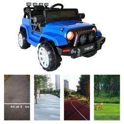 12V Electric Kids Ride on Truck Battery Powered Jeep Car W/R