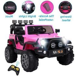 12V Electric Ride on Car Toys Kids Jeep 3 Speeds 4 mph Music