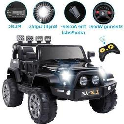 12V Electric Ride on Car Toys Kids Jeep 3 Speed 4 mph Music