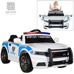 12V Highway Patrol Police Ride On Car Toys for Kids with 2.4
