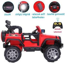 12V Jeep Kids Ride on Car Toys 4 mph Wheels Music LED Light