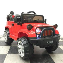 12V Jeep Style Electric Kids Ride On Car Battery Powered w/