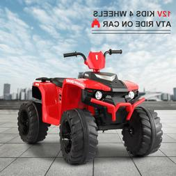 12V Kid Ride On ATV 4 Wheels Electric Powered Car Toy W/ Mus
