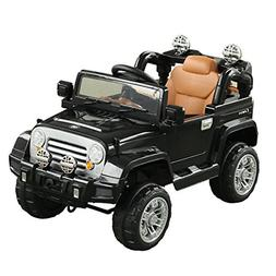 Aosom 12V Kids Battery Powered Off Road Truck with Remote Co