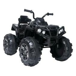 12V Kids Electric ATV Ride-On Toy w/ 2 Speeds, LED Lights, S