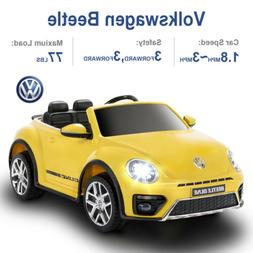 12V Kids Electric Remote Control Ride on Cars Beetle Double-