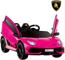 Uenjoy 12V Kids Electric Ride On Car Lamborghini Aventador S