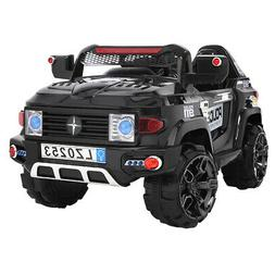 12V Kids Police Ride on Cars Electric Car Toy w/Remote Co