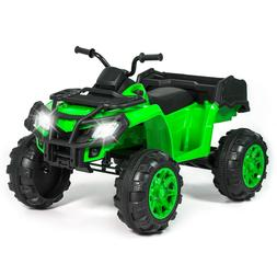 12V Kids Powered Ride On Cars for Toddlers Large ATV Quad 4-