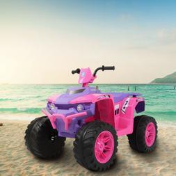 12V Electric Kids Ride On Toy ATV Car Quad 4 Wheels Toy Led