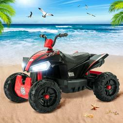 12V Electric Kids Ride On Toy ATV Car Quad 4 Wheels Toy Led