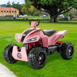 12V Electric Kids Ride On Toy ATV Car Quad Led Lights 4 Whee