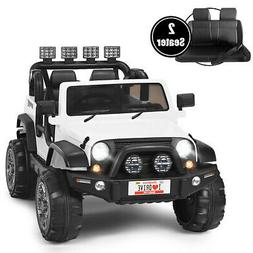 12V Kids Ride On Car 2 Seater Truck RC Electric Vehicles w/