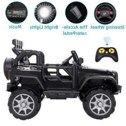 12V Kids Ride on Car Jeep Electric Toys Wheel Safe Remote Co