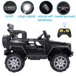 12V Kids Ride on Car Jeep Electric Toys Wheels Safe Remote C