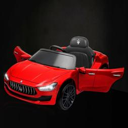 12V Kids Ride On Toys Maserati 2*Motors Kid Cars w/Music Lig