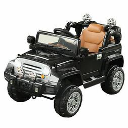 12V Kids Ride On Car Off-Road Battery-Powered Jeep Truck wit