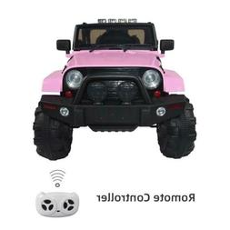 12V Kids Ride on Car SUV 3 Speed Remote Control LED Light 4-