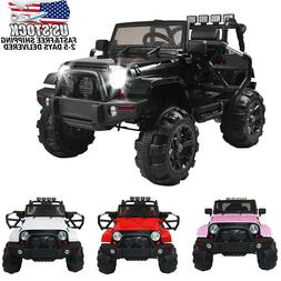 12V Kids Ride on Car SUV MP3 RC Remote Control LED Lights 4-