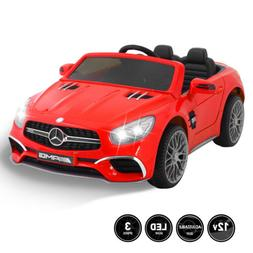 12V Kids Ride On Car Toy Double Seat Licensed Mercedes W/Rem