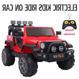 12V Kids Ride on Car Toys Jeep Battery Power w/ Safe Parent
