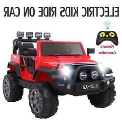 12V Kids Ride On Car Toys Truck Light Music Safety Parents R