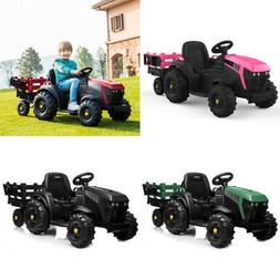 12V Kids Ride On Car Tractor Truck Battery Power 2 Speed Tra