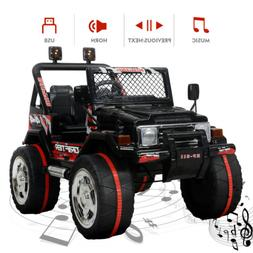 12V Kids Ride On Truck Car w/ Remote Control LED Lights 3 Sp