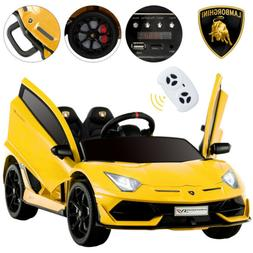 12V Lamborghini Kids Ride on Car Children's Electric Toy SVJ