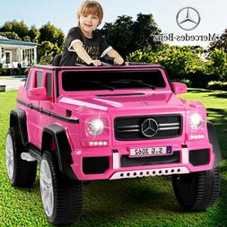 Pink 12V Mercedes-Benz Electric Kids Ride On Car Toys MP3 LE
