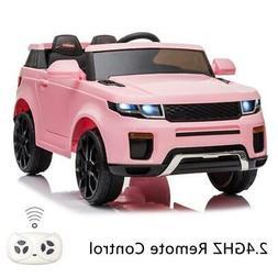 12V Pink Kids Ride on Car Truck Toys Electric 3 Speeds MP3 L