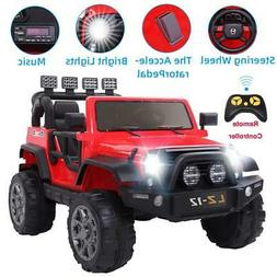 12V Powered Kids Ride On Car Toys Jeep 4 Wheel 3 Speed with