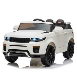 12V White Kids Ride on Car Truck Toys Electric 3 Speeds MP3