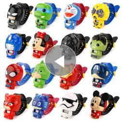1pc Children Cartoon Watches Batman Captain America Nijago H