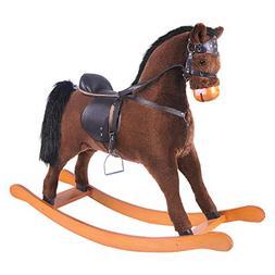-Labebe Large Rocking Horse Toy, Stuffed Animal Rocker Toy,