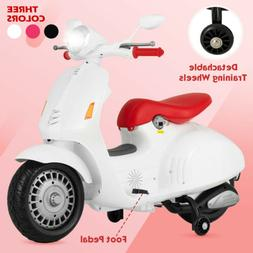 12V Kids Electric Scooters Ride On Cars Battery Foot Pedal M