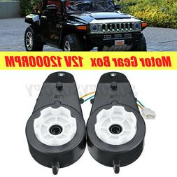 Pair 12V Electric Motor Gear Box For Kids Ride On Car Bike T