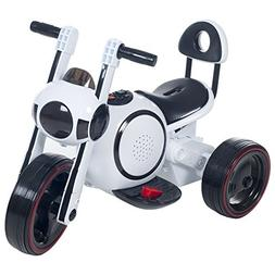3 Wheel LED Mini Motorcycle Trike, Ride on Toy for Kids by R